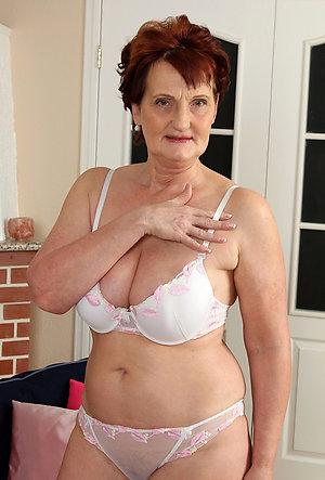 Busty amateur mature lingerie models