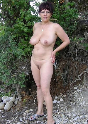Sweet sexy mature wife outdoors photos