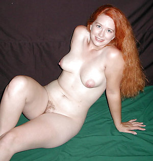 Luxurious redhead older women naked