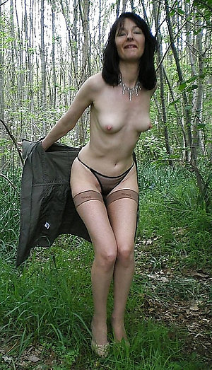 Free small tits older women posing nude