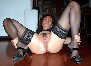 Pretty mature in stockings amateur pics