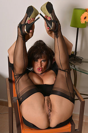Gorgeous hot old women in stockings