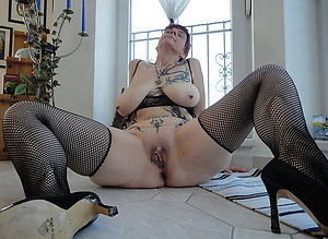 Handsome mature women with tattoos