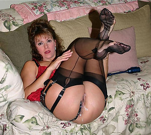 Horny hairy mature creampies photo