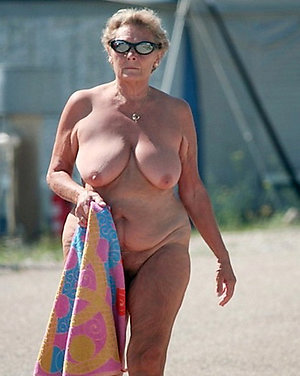Real women old nude at beach