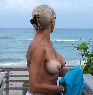 Free nude older women in beach