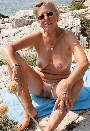 Real matures on the beach