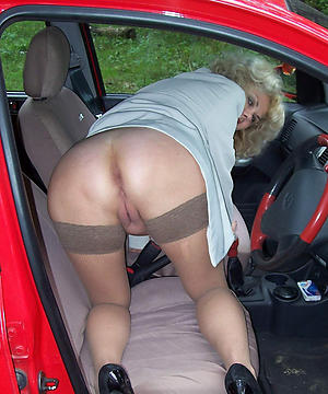 Out-and-out hot mature car sexual connection