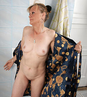 Handsome mature lady naked