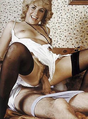 Naughty vintage mature nude