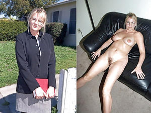 Amateur women before together with after