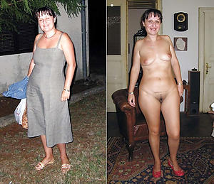 Horny lassie before and after