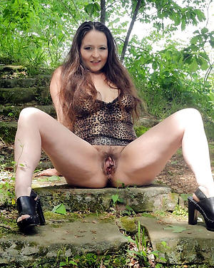 Sweet of age brunette woman