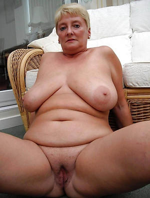 Horny natural mature breasts