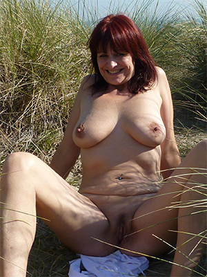 Nude natural mature breasts