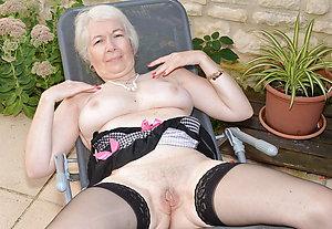 Sweet mature blonde in stockings pics