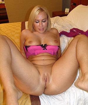 Naughty mature petite blonde