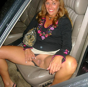 Naked mature in car