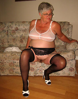Sexy scant older of age granny
