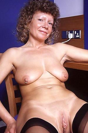 Vacant saggy mature tits photo