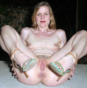Alluring small tits mature column porn pictures
