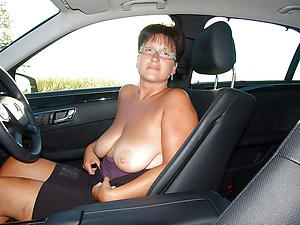 Naked mature in car pics