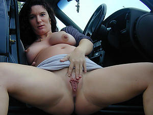Favorite nude mature to passenger car