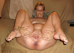 Curvy  mature stocking feet
