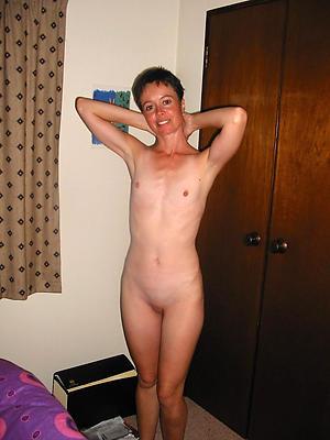 Bush-league pics of skinny naked mature women
