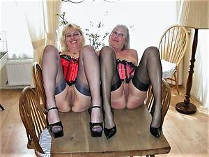 Fresh mature sex less stockings pics