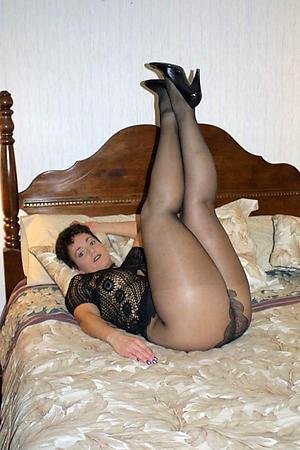 Beautiful mature woman helter-skelter pantyhose