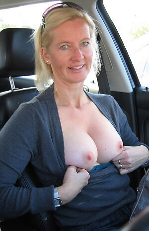 Hot porn of dilettante mature sexy more car