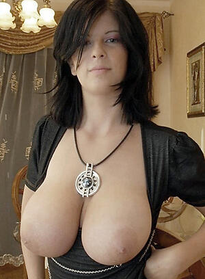 Slutty brunette mature nude