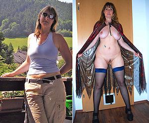 Handsome women dressed undressed