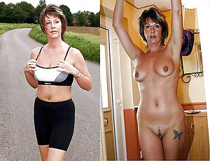 Naughty milf dressed and undressed