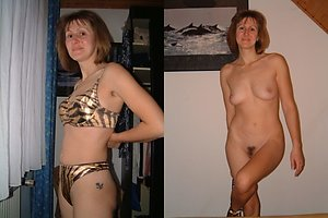 Best pics of dressed undressed wife