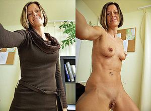 Amateur dressed undressed older wife