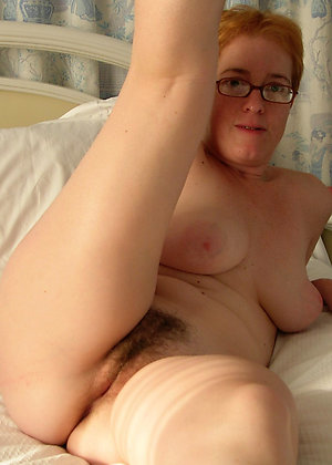 Pretty naked hairy older women