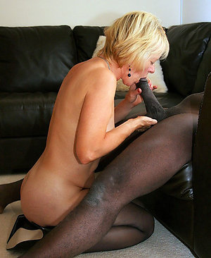Cute sexy mature blonde interracial