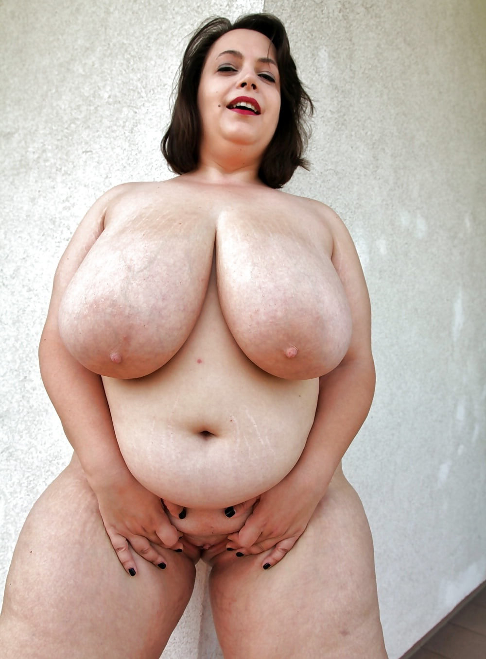 Real fat white mature