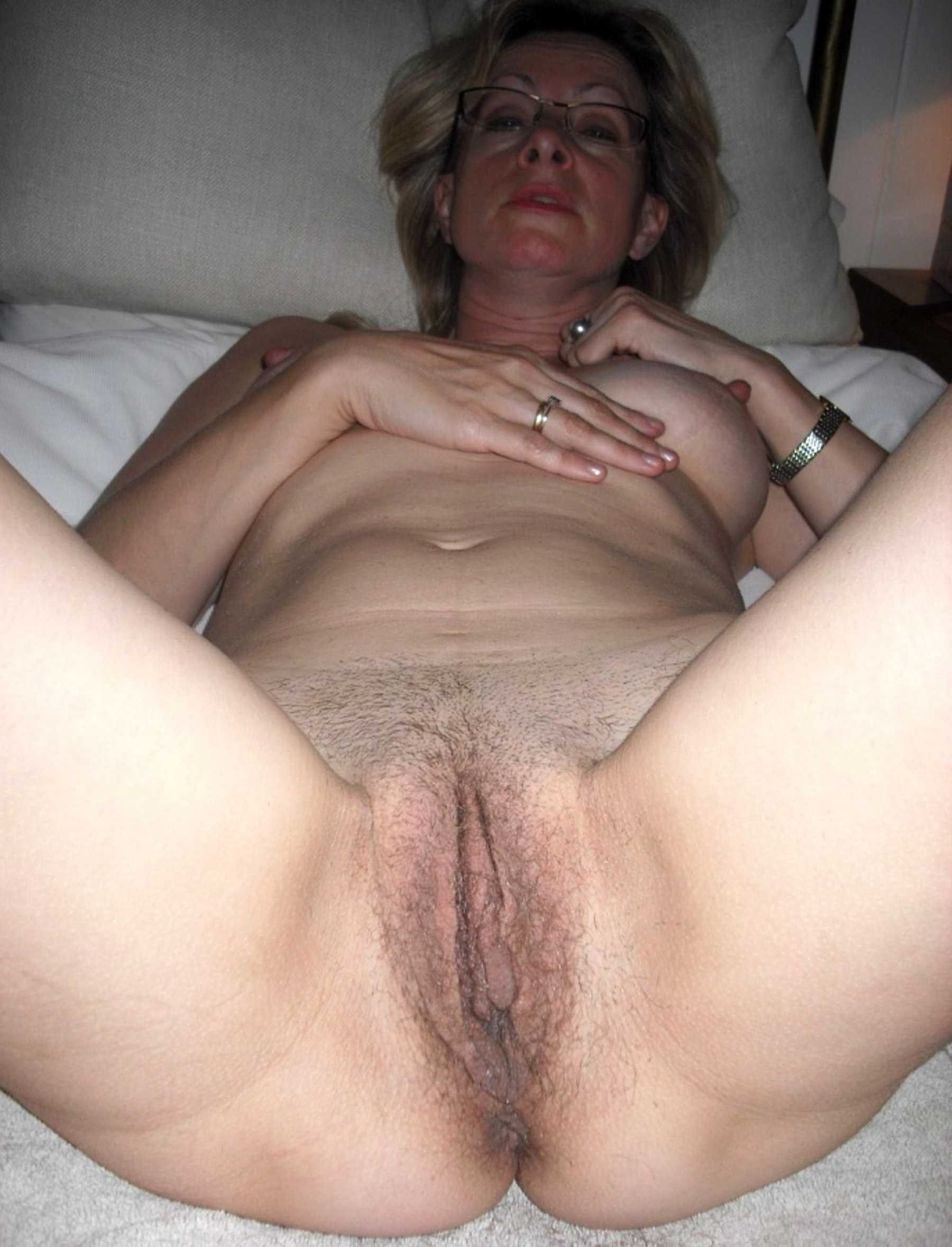 Floppy Tits Hairy Pussy