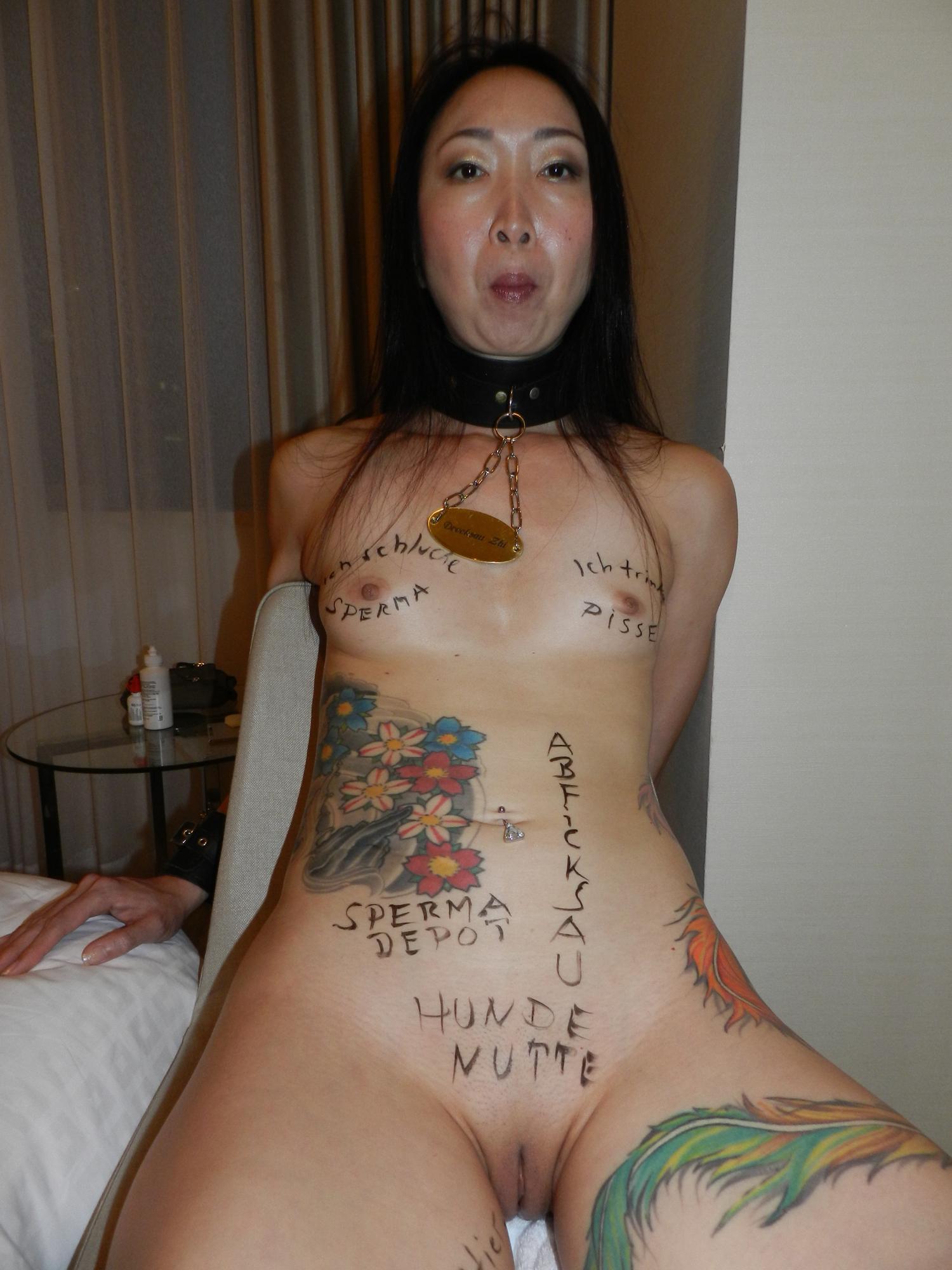 Slutty tattoed mature women naked photos