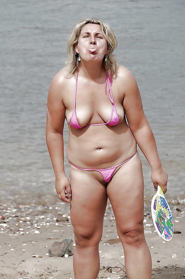 Wet pussy mature battalion in bikini