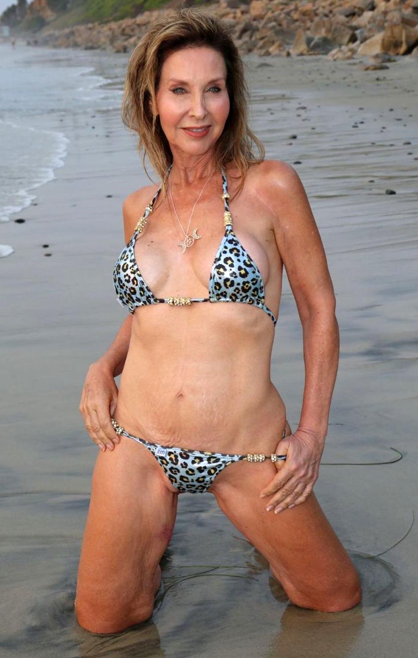 Gorgeous mature bikini women